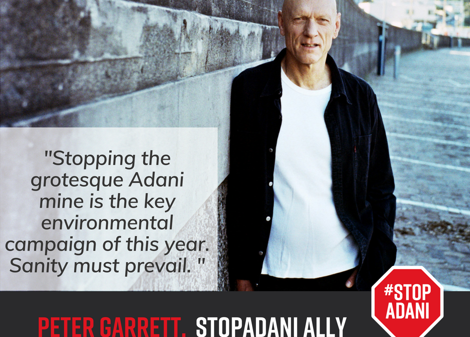 Peter Garrett announced as official ambassador for Stop Adani