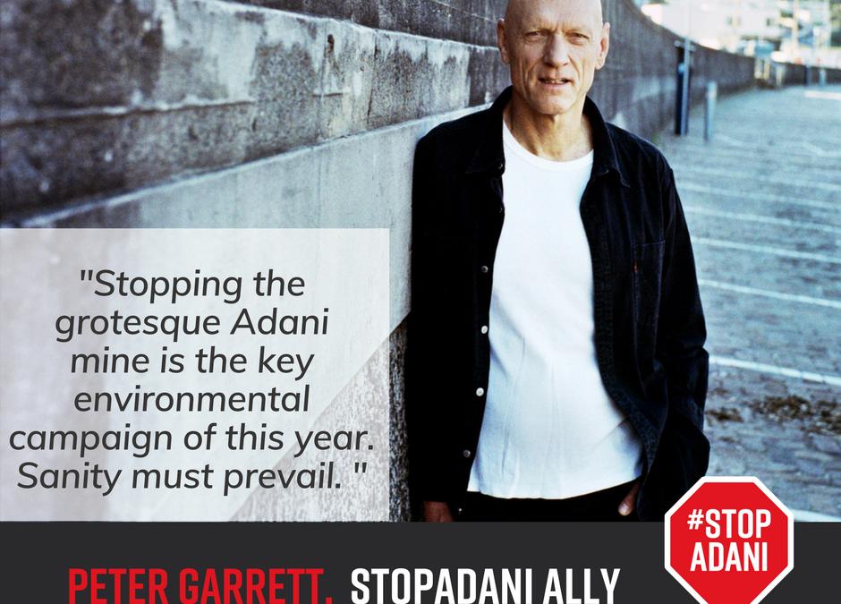 Peter Garrett announced as official ambassador for Stop Adani