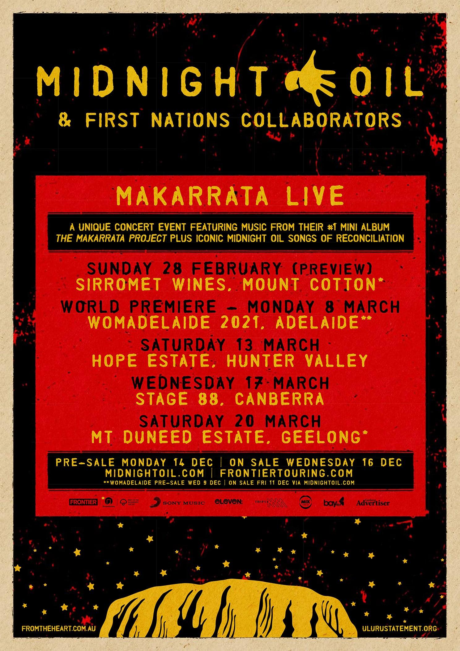 MAKARRATA LIVE tour announcement